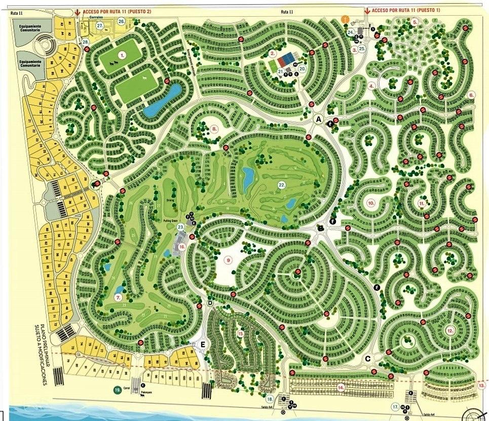 venta lote golf costa esmeralda barrio cerrado 2321 terreno