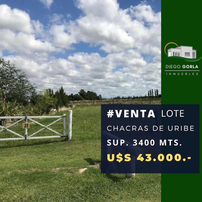 #venta lote - terreno en chacras de uribelarrea oportunidad