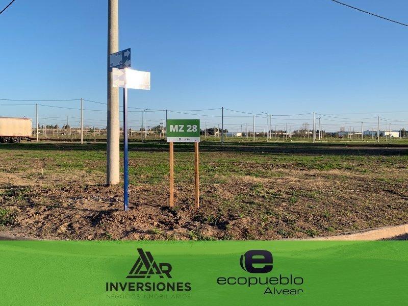 venta lote/terreno en alvear - barrio residencial abierto - ecopueblo - desarrollo urbanistico con todos los servicios - consultar financiacion