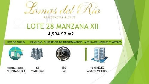venta - macrolote - lomas del río - 4995m2 - $69,000,000