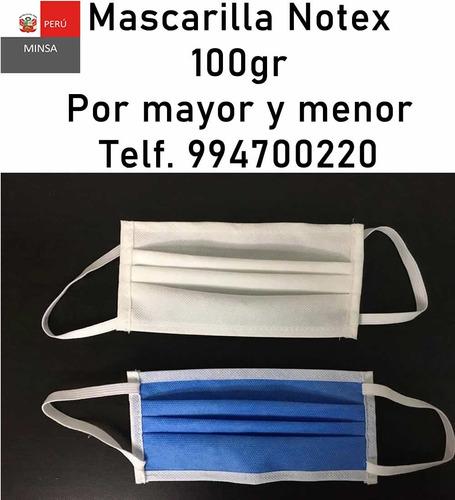 venta mascarillas notex 100gr minsa por mayor y menor