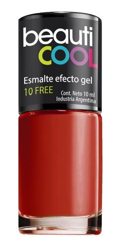venta minorista - esmalte 10 free efecto gel - rojo y nude