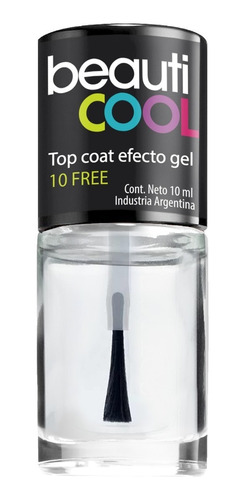 venta minorista - top coat 10 free efecto gel