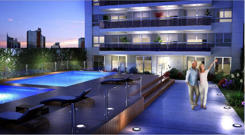 venta monoambiente al frente balcón, en obra - amenities