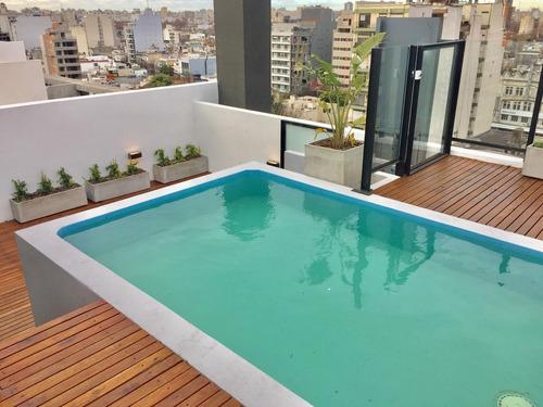 venta monoambiente balcón, parrilla propia, cochera, amenities