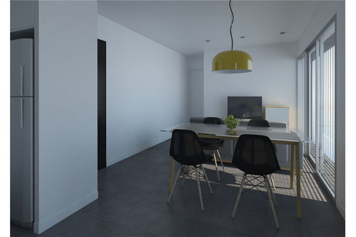 venta monoambiente con terraza exclusiva + balcon
