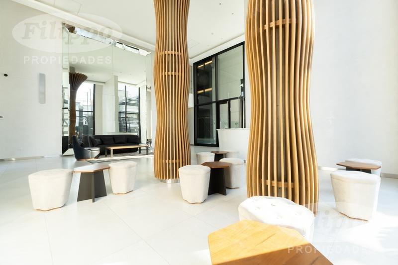 venta: monoambiente en l divisible en la palmera, exclusiva torre de lujo a estrenar!!!