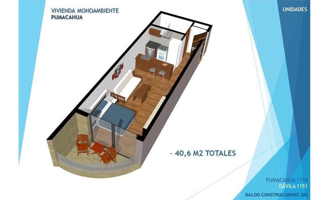 venta monoambiente p. chacabuco - financiación