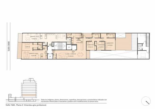 venta oficina de 1 ambiente con balcon en barrio norte
