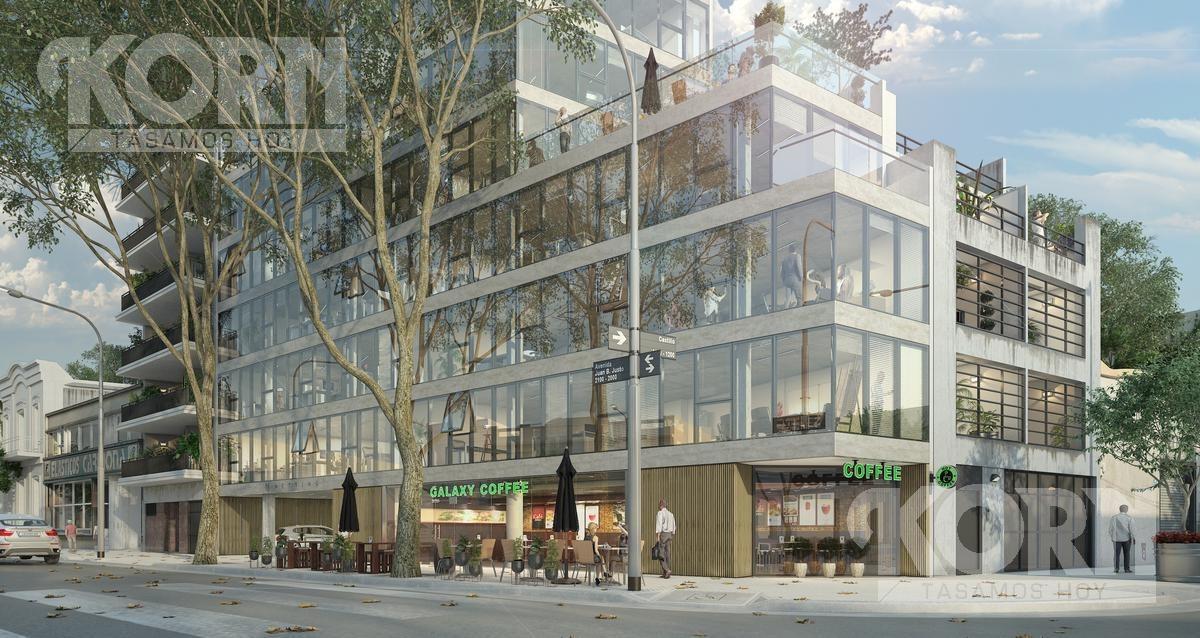 venta oficina planta libre con terraza en construccion en villa crespo