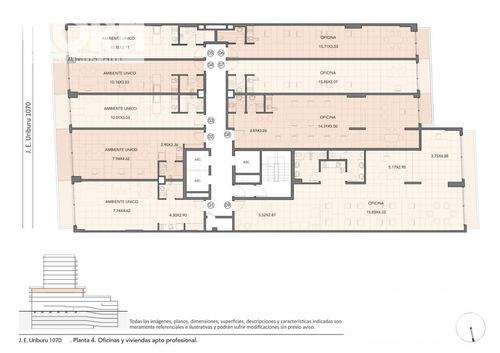 venta oficina planta libre divisible en construccion en recoleta