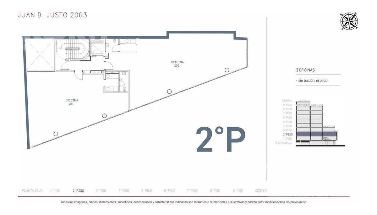 venta oficina planta libre en construccion en villa crespo