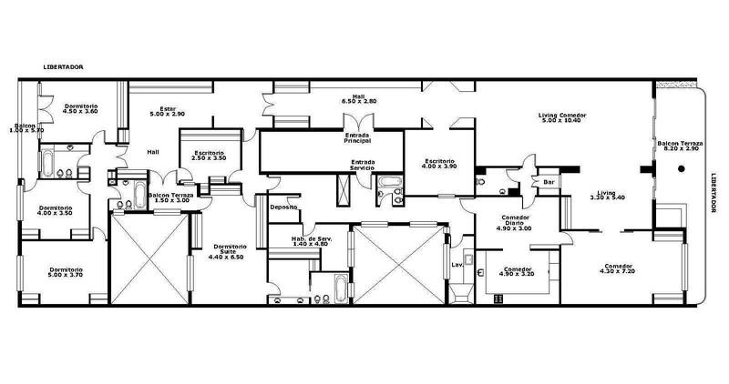 venta palermo: importante piso de 410m2 sobre av. libertador (rosedal)