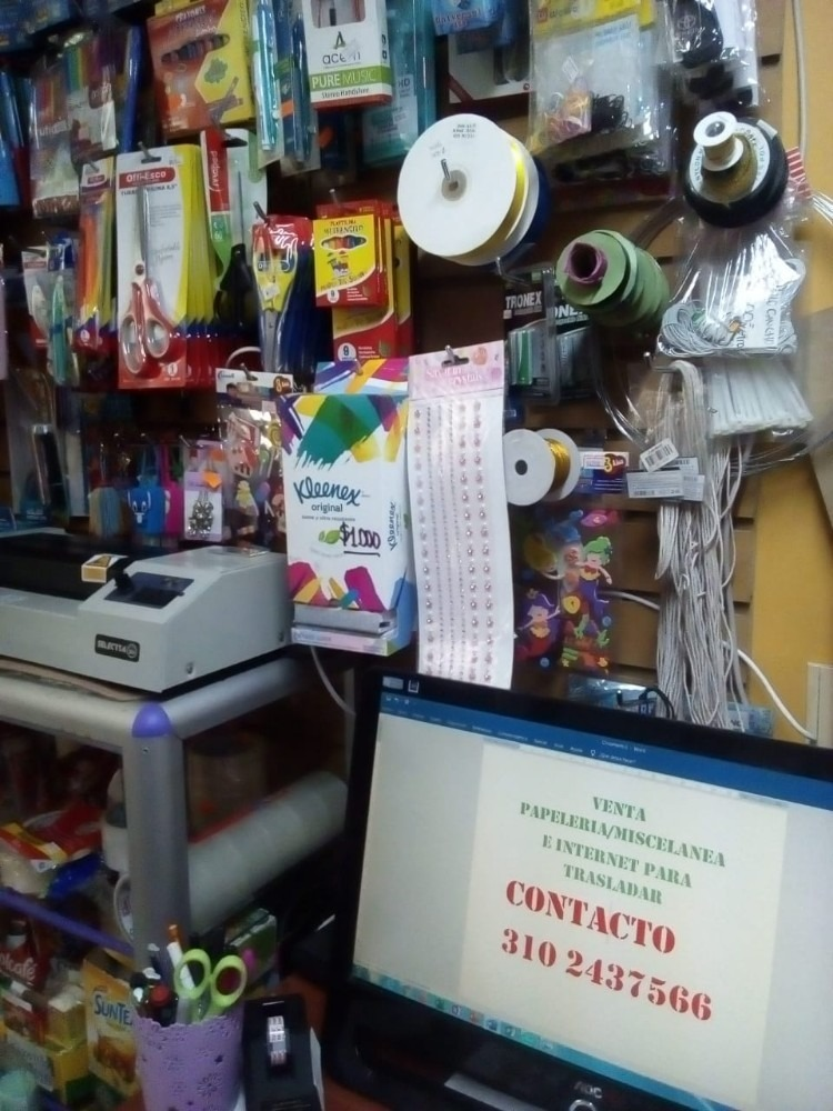 venta papelería miscelanea e internet