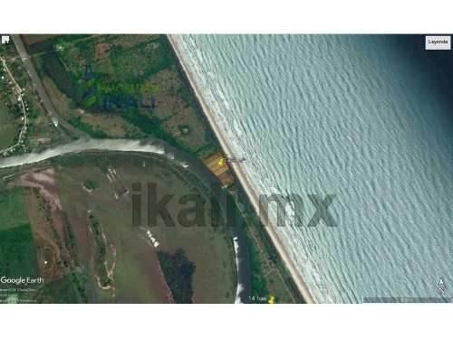 venta paradisíacos lotes con hermosa vista al mar y al río tamiahua veracruz. ubicación exclusiva entre tamiahua y tuxpan, en la parte más angosta de la isla, cuenta con muelle para embarcaciones, la