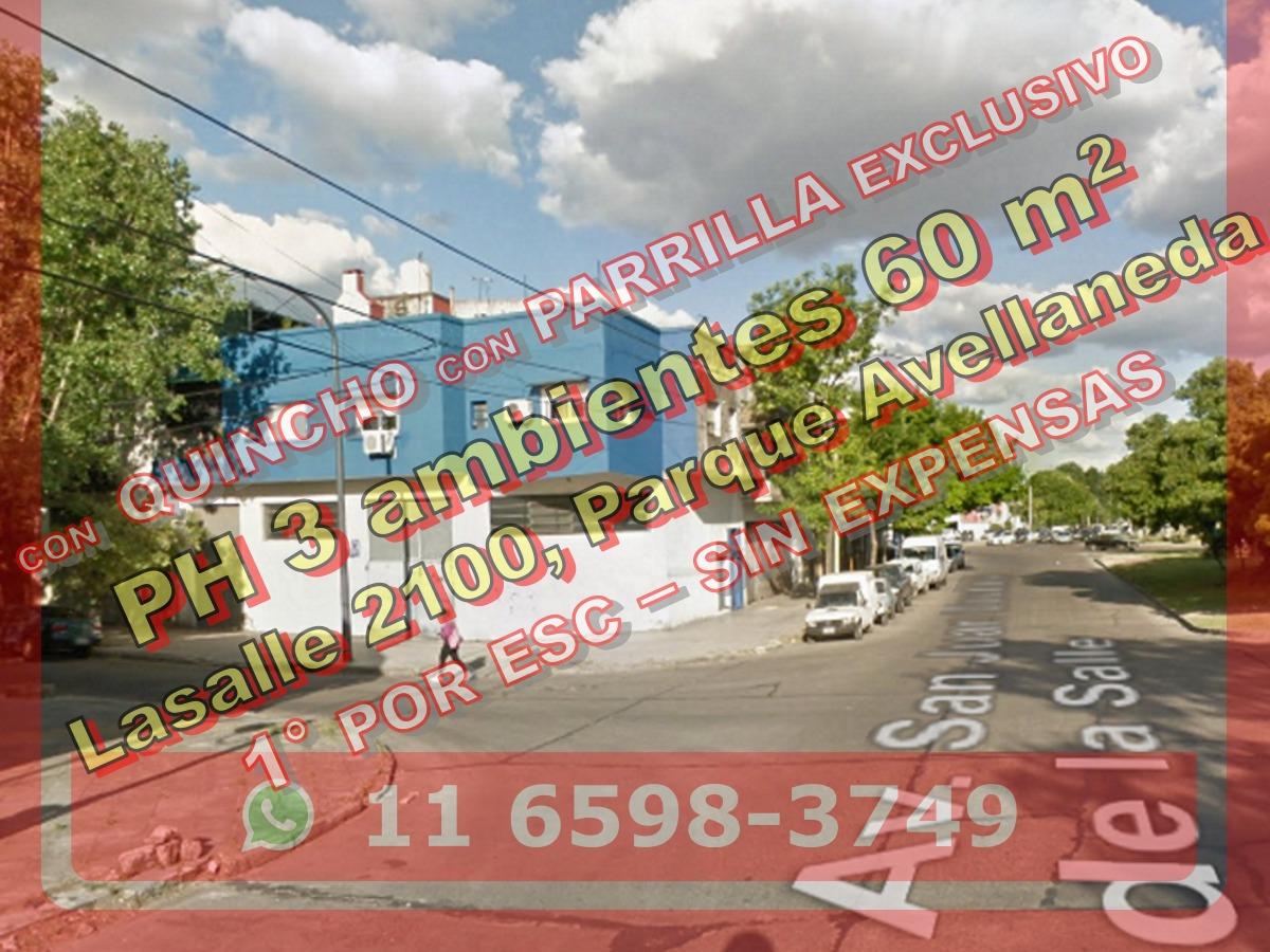 venta ph 3 ambientes parrilla parque avellaneda 544