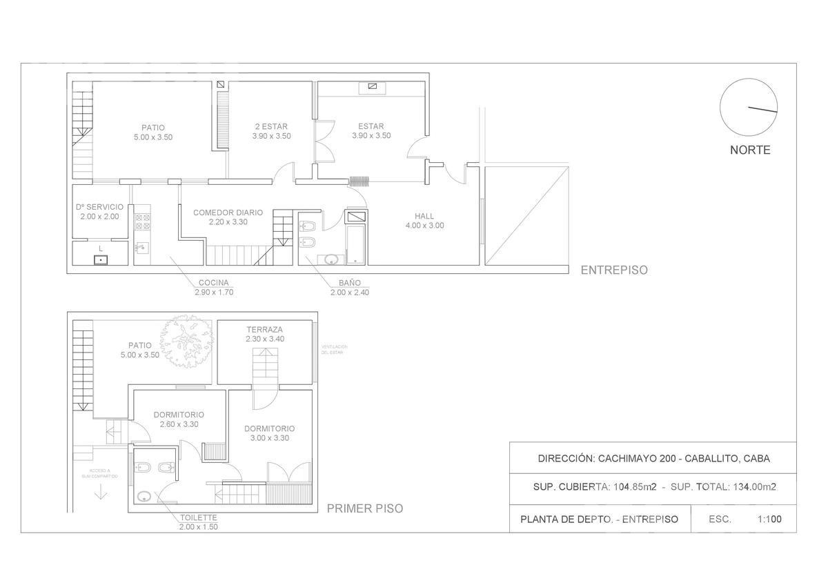 venta  p.h. de 4 ambientes  caballito.