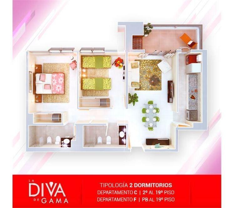 venta plan diva-50% abonado-2 dormitorios