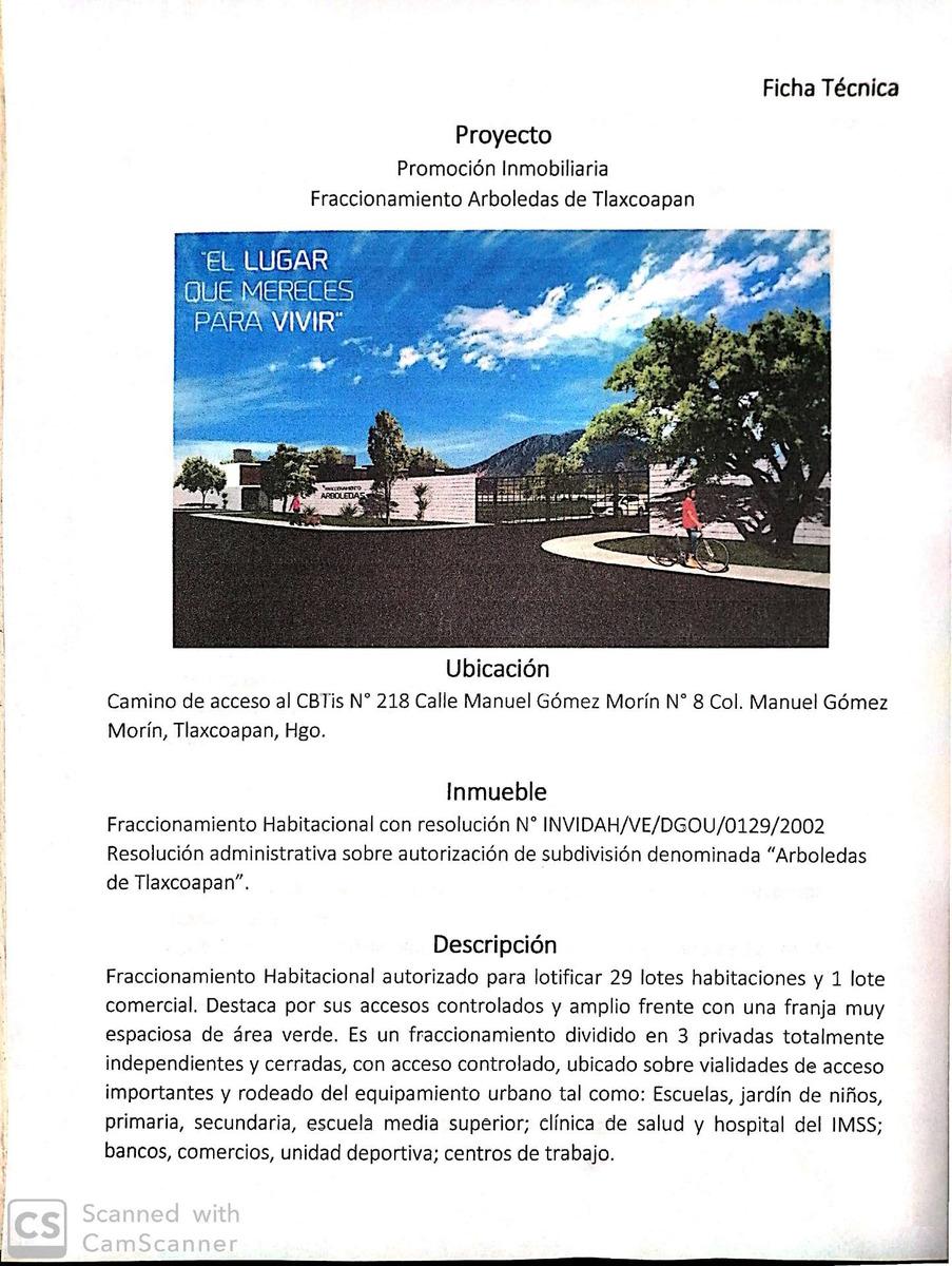 venta proyecto fracc habitacional