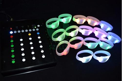 venta pulseras led con control remoto