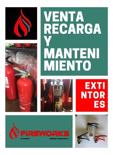 venta recarga y mantenimiento de extintores contra incendio