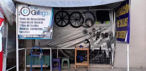 venta refaccion reparación de sillas de ruedas, andaderas