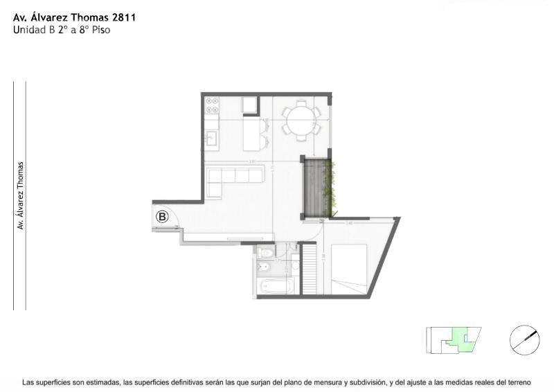 venta semipiso de 2 ambientes c/balcon apto profesional en villa urquiza - pre-lanzamiento