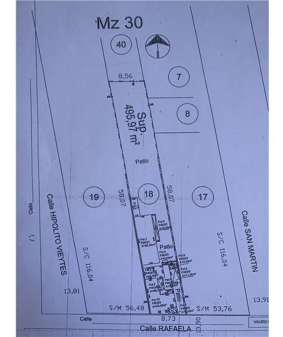 venta terreno 496m2 a 2 cuadras estacion ciudadela