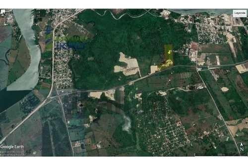 venta terreno 8.1 hectáreas libramiento portuario tuxpan veracruz. 81,000 m² en forma de 'l' ubicado en libramiento portuario que lleva a la zona industrial al sur del río tuxpan casi en el cruce con
