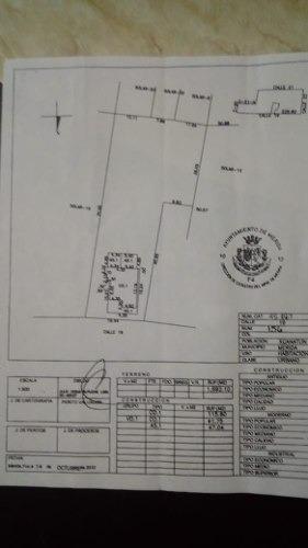 venta terreno c/construcción en hda. xcanatun