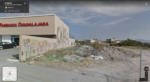venta terreno comercial en avenida principal resid. santiago, qro, mex