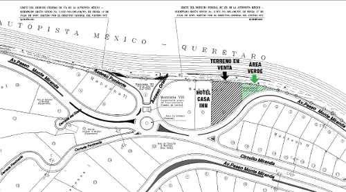 venta terreno comercial y de servicios autopista mexico qro