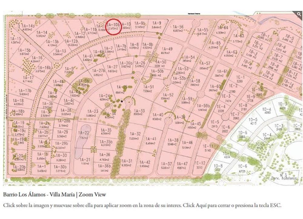 venta terreno en estancia villa maria oportunidad