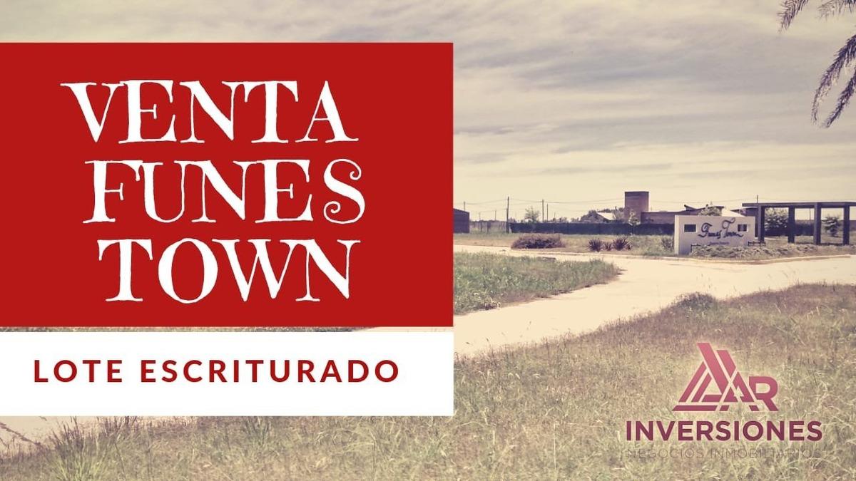 venta terreno en funes town - escriturado