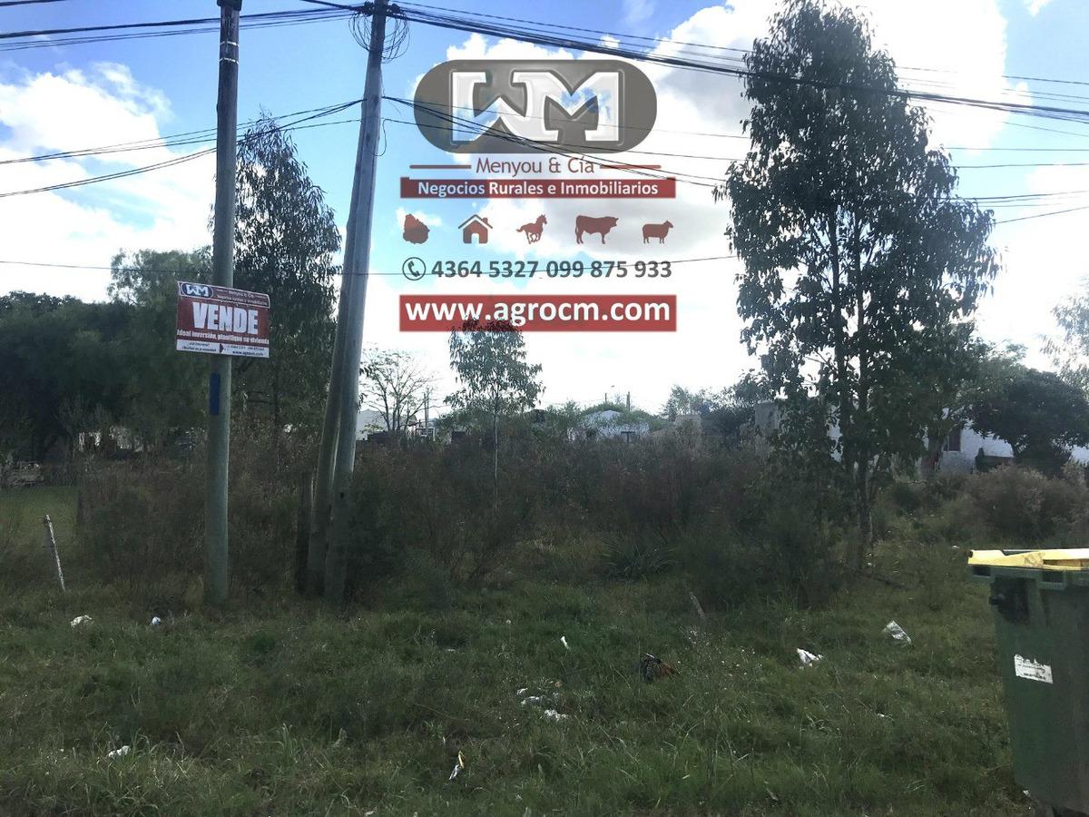 venta terreno en trinidad flores 500m2 frente 14mts unico