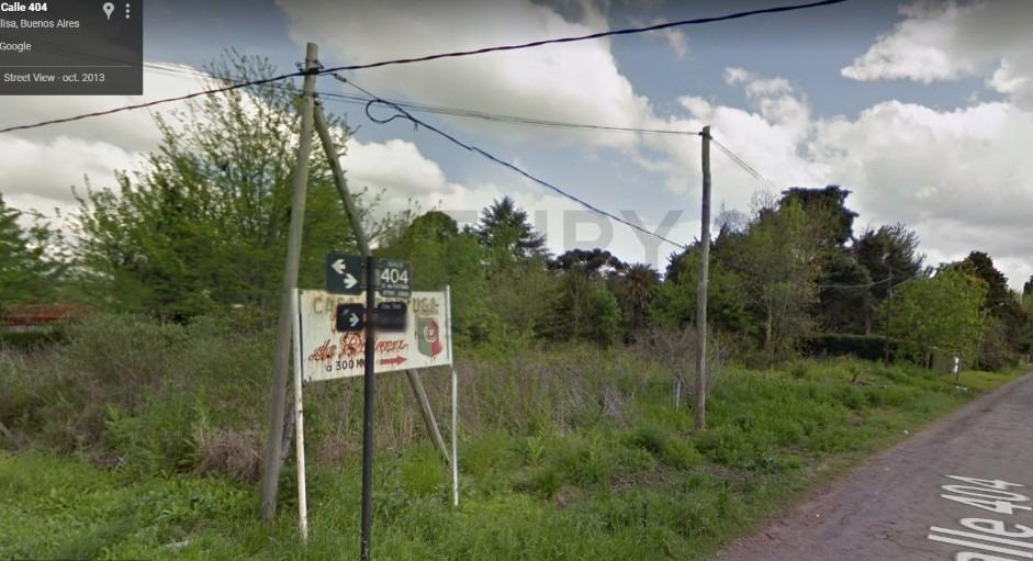 venta terreno en villa elisa 404 y camino gral. belgrano