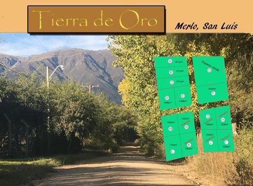 venta  - terreno -  merlo- cerro de oro - cuotas
