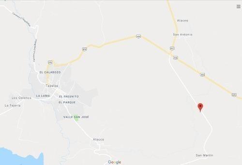venta terreno tapalpa carretera a san martin km 3.5