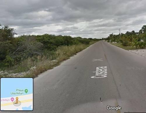 venta terreno uaymitun para desarrolladores sobre la carretera muy bien ubicado