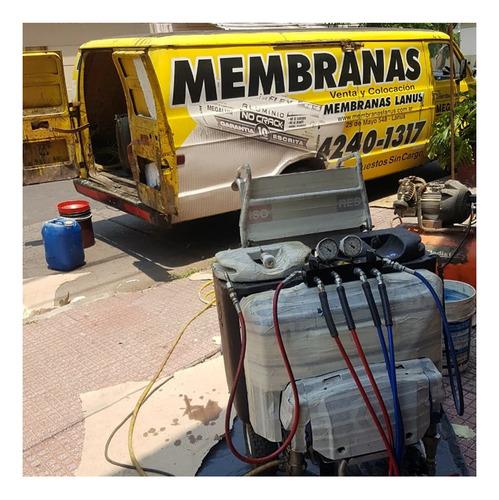 venta y colocación de membranas // poliuretano proyectado