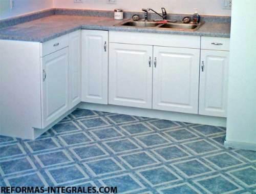 Venta y colocacion de vinilicos y baldosas vinilicas for Azulejos y suelos para cocinas