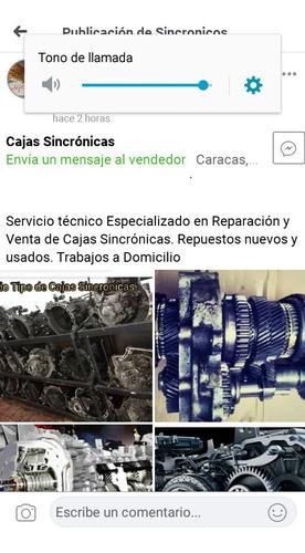 venta y reparación de caja sincronicas  y automaticas