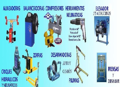 venta y reparación de máquinas y herramientas para gomerías
