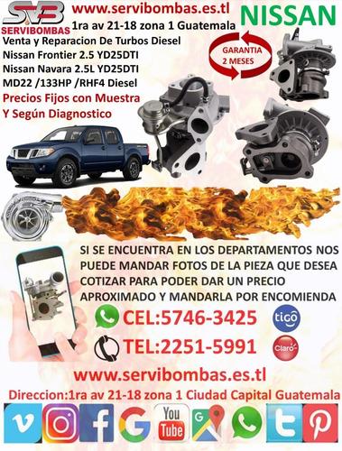 venta y reparación de turbo diésel nissan x-trail 2.2 guatem
