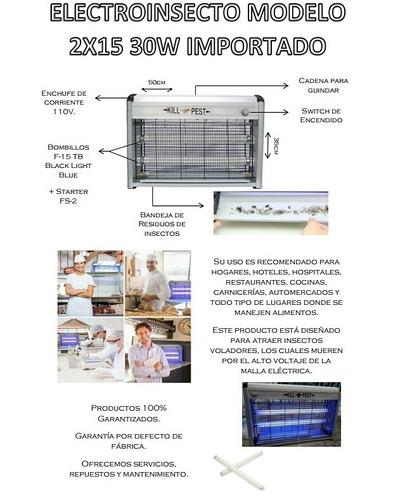 venta y reparación tubos fluorescentes lámparas matamosca