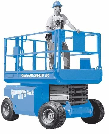 venta/alquiler elevador manlift gs3268dcplataformatijera12m.