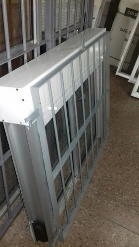 ventana 120x100 monoblok con reja