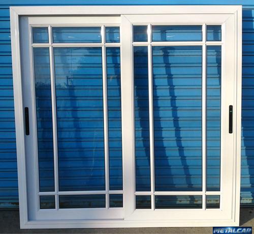 ventana alum blanco vidrio repartido rotonda 100x110 balcon