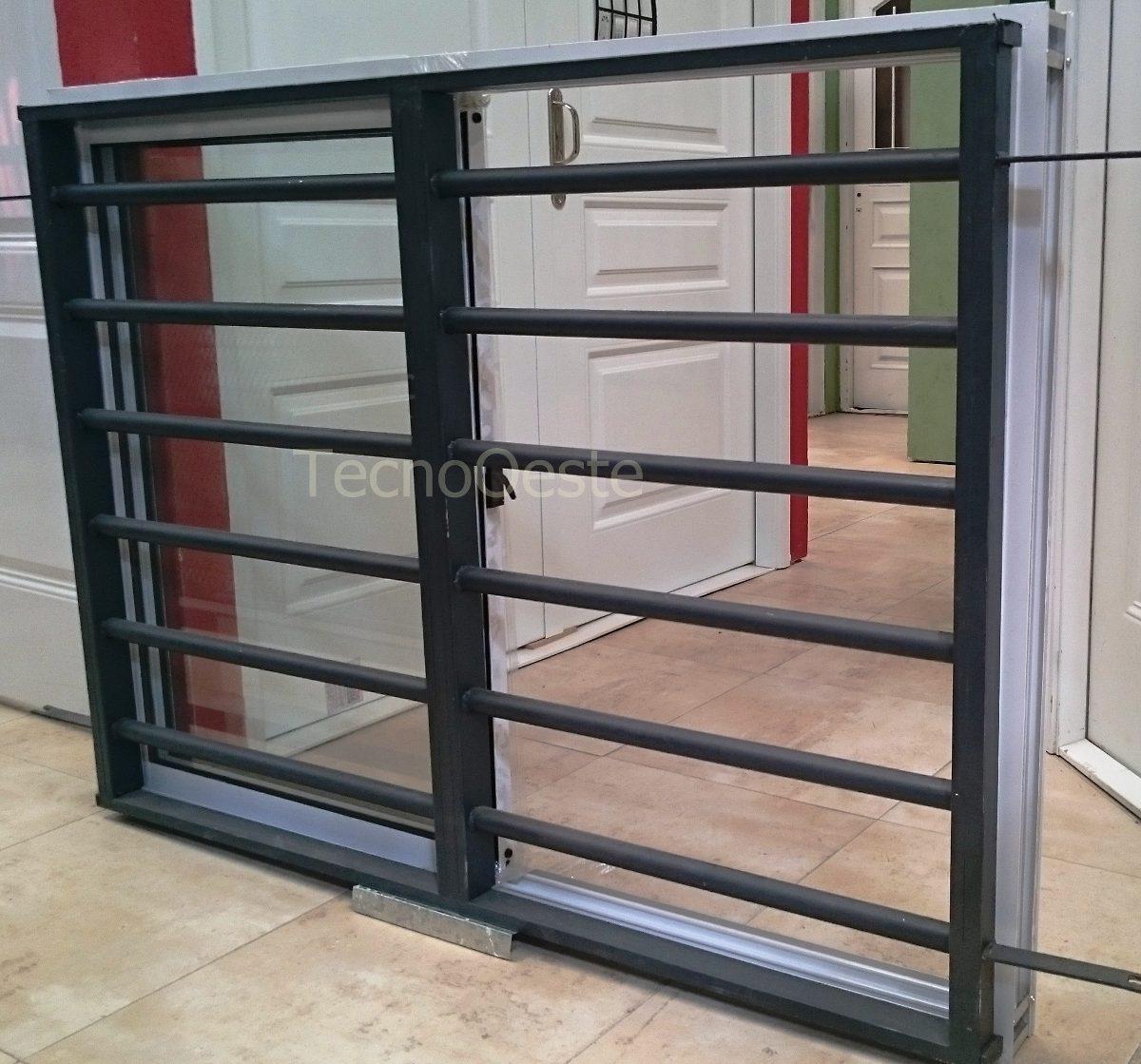 Ventana Aluminio Blanco 150x110 + Reja Tubos Horizontales - $ 4.800 ...