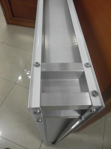 ventana aluminio blanco herrero 120x110 con vidrio torri